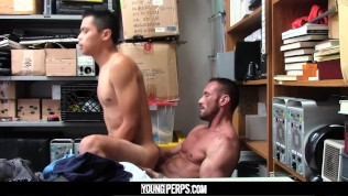 YoungPerps – Muscle guard takes a shoplifter?s virginity